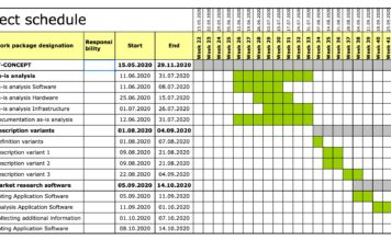 Project Schedule MS-Excel