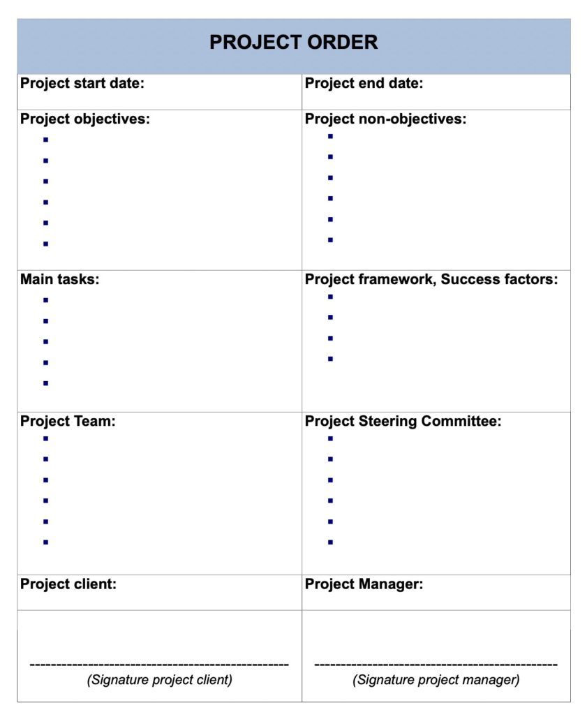 project order